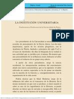 La Institución Universitaria