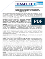 Comunicado Fetraelec 25 Mar 2013