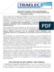 Comunicado Fetraelec 30 Abr 2013