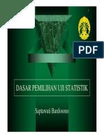 Dasar Pemilihan Uji Statistik