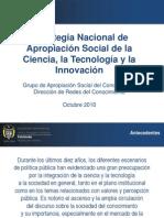 Apropiación Social de La Ciencia y La Tecnología