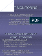 Credit Monitoring PPT