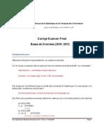 Examen Final Bd 2011 Corrige