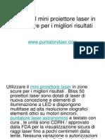Utilizzare Il Mini Proiettore Laser in Zone Scure Per i Migliori Risultati
