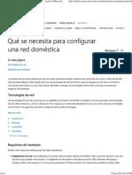 Qué Se Necesita Para Configurar Una Red Doméstica - Ayuda de Microsoft Windows