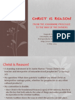 Christ is Reason! From the Johannine prologue to the way of the Fathers