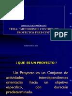 Control de Proyecos PERT-CPM