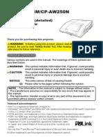 Hitachi Cp Aw250nm Manual En