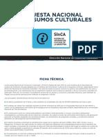 Encuesta Nacional de Consumos Culturales-2014