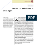 Mobility, Liminality, And Embodiment in Urban Egypt