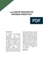 Gestion de Procesos en Sistemas Operativos