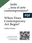 ¿Cuando empieza el arte contemporáneo?