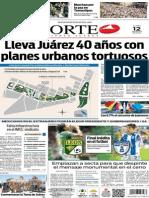 Periódico Norte de Ciudad Juárez edición impresa del 12 mayo de 2014