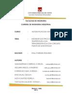 MEDIDOR ELECTRICO DE TEMPERATURA CON TERMORESISTENCIA CON CIRCUITO PUENTE DE WHEATSTONE