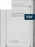 California Real Estate Department Act of 1919 in Effect 1923