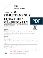 GCSE Topics - Solving Simultaneous Equations Graphically - Questions