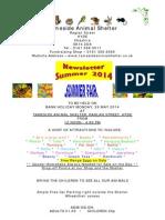 Tameside Animal Shelter Newsletter - Summer 2014