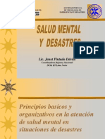 Defensa Nacional-salud Mental en Desastres