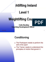 2 Weightlifting Ireland Level 1 Phases Clean S and FC