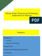 Energy Needs for Pakistan