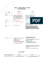 Dentest 5th Edition Clinicals Errata