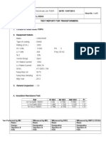 Typical Transformer Test Report
