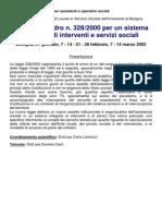 Legge Quadro 328 Corso 2002