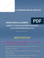 Biomechanical Considerations and Management of Open Bite-Ortho / orthodontic courses by Indian dental academy