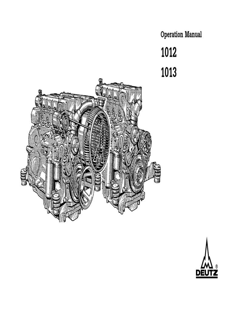 deutz 1012 1013 operation and maintenance manual internal rh scribd com Deutz Engine Parts Manual Deutz Repair Manual