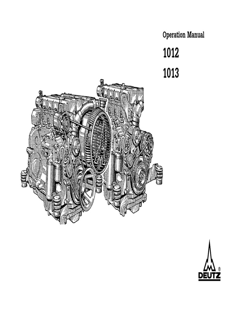 Deutz 1012 1013 Operation and Maintenance Manual | Internal Combustion  Engine | Turbocharger