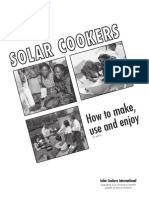 Plans for Solar Cookers 58 Pages