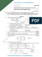 Basic Electrical Engineering June 2012 (2010 Scheme)