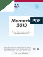 Memoria FCIHS 2013