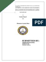 Seminar Report Photonic Crystal Fiber