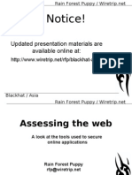 A Look at the Tools Used to Secure Web App