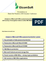 Analysis of Microsoft Office Password Protection System,