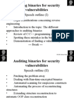 Auditing Binaries for Security Vulnerabilities