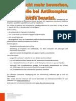Europäischer Freiwilligendienst bei Antikomplex (ab Juli 2014)