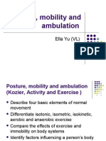 Posture, Mobility and Ambulation