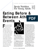 eating before and between athletic evets