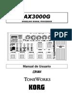 Korg ax3000g manual portugues.