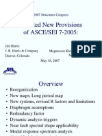 Selected New Provisions of ASCE 7-05