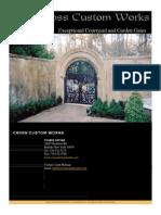 Aluminum Courtyard Gates-reduced Size
