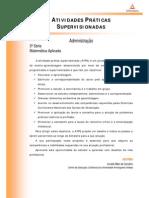 ATPS 2014 1 ADM3 Matematica Aplicada
