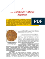 Antiguo Regimen, Tema Resumen