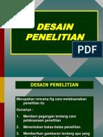 DESAIN PENELITIAN