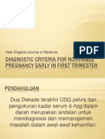 Diagnostic Criteria for Nonviable Pregnancy Early in First Trimester
