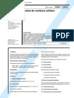 NBR 13463 -1995- - Coleta de Residuos Solidos - Classificacao