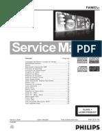 Som Philips Fwm 57 Manual de Serviço Philips