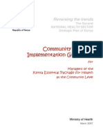 Community Health Strategy Implementation Guide 2007